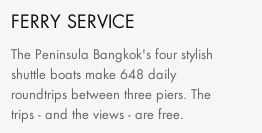 From the Peninsula Hotel website