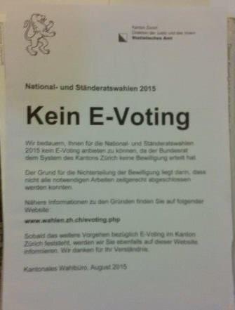 Kein E-voting