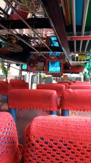 Inside the local bus