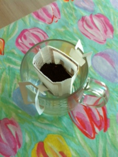 Coffee filter in a cup