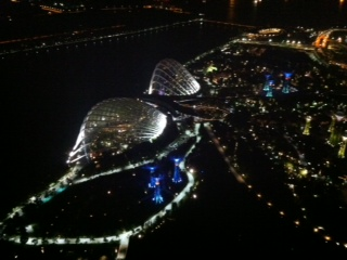Gardens by the Bay from the top