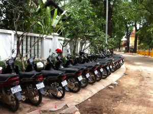 Motorcycles in Siem Reap