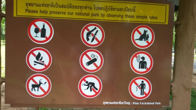 Khao Yai signs