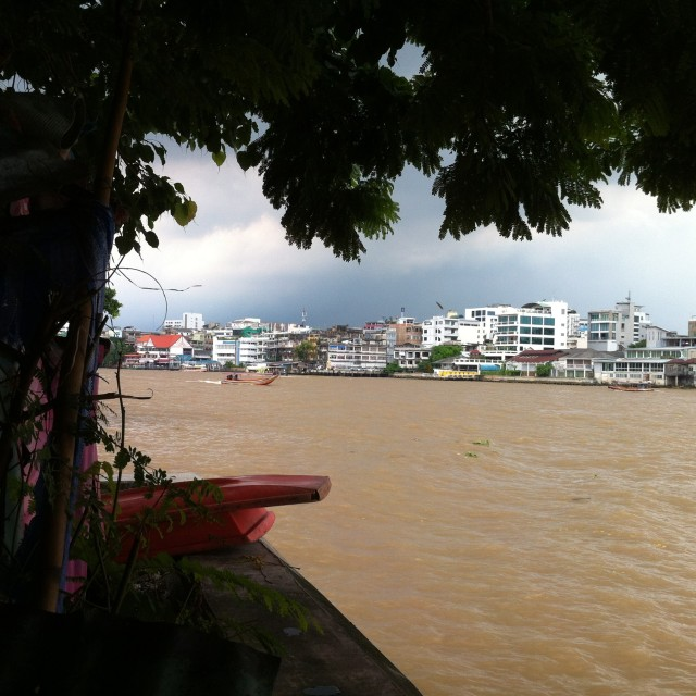 River view from Thonburi side